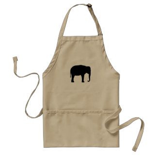 Asian Elephant Silhouette Adult Apron