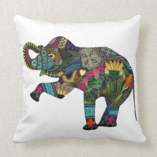 asian elephant white throw pillow