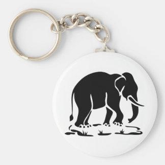 Asian Elephants Ahead Thai Elephant Trekking Sign Key Chain