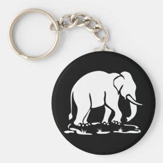 Asian Elephants Ahead Thai Elephant Trekking Sign Key Chains