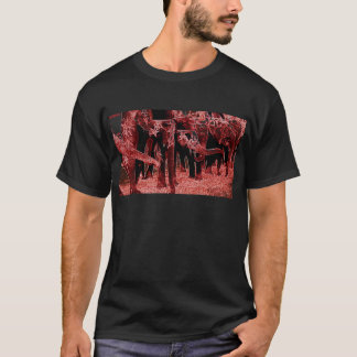 Asian Elephants in Nepal, Real Photo Red Filter T-Shirt