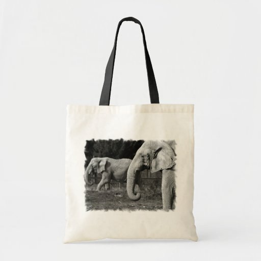 Asian Elephants Small Tote Bag
