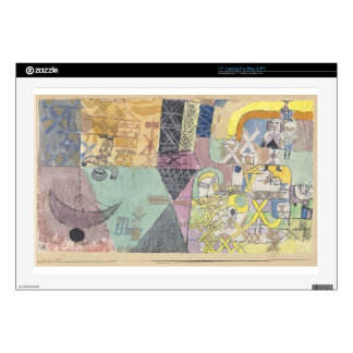 """Asian entertainers by Paul Klee 17"""" Laptop Decal"""