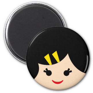 asian faces 4 2 inch round magnet