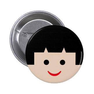 asian faces 5 pinback button