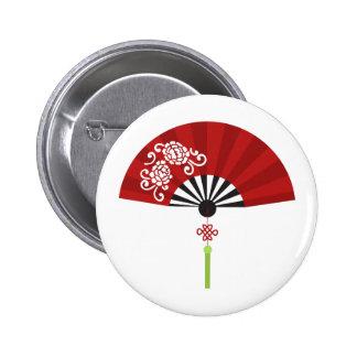 Asian Fan Pinback Button