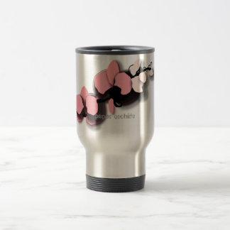 asian-feeling, paper orchids 15 oz stainless steel travel mug