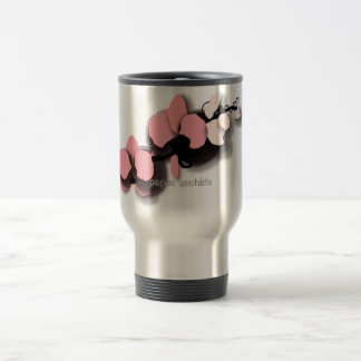 asian-feeling, paper orchids travel mug