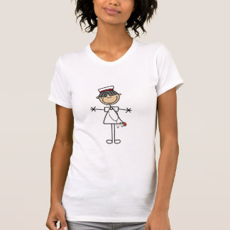 Asian Female Stick Figure Nurse T-shirts and Gifts