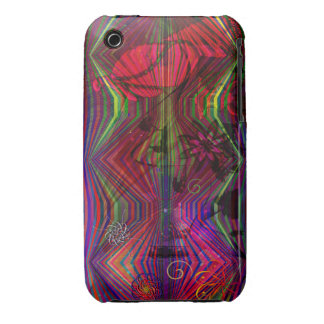 Asian figures with abstract designs iPhone 3 cover