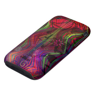 Asian figures with abstract designs iPhone 3 tough covers