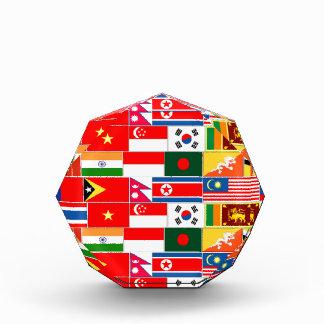 Asian Flags Acrylic Award