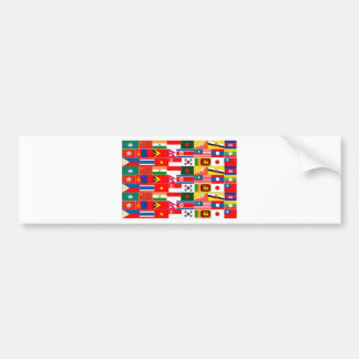 Asian Flags Bumper Sticker