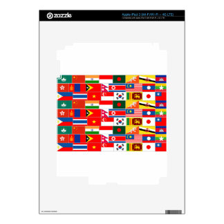 Asian Flags Decal For iPad 3