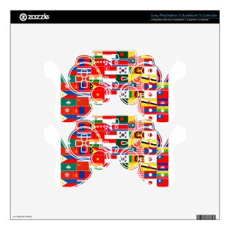 Asian Flags Decal For PS3 Controller