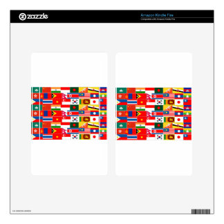 Asian Flags Decals For Kindle Fire