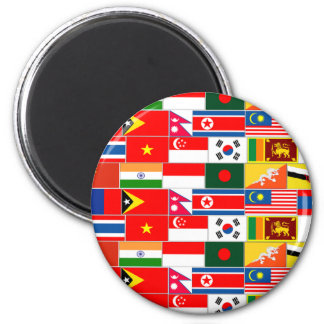 Asian Flags Magnet