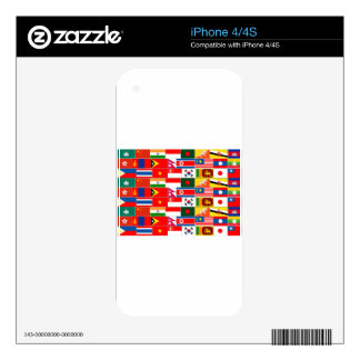 Asian Flags Skin For iPhone 4