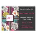 Asian Floral Mix Monogram Adoption Announcement