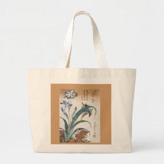 Asian Floral Script Reusable Ladies Canvas Bag