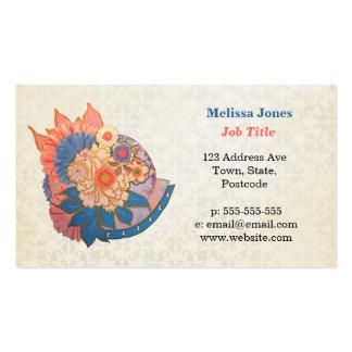 Asian Flower Collage art Business Card