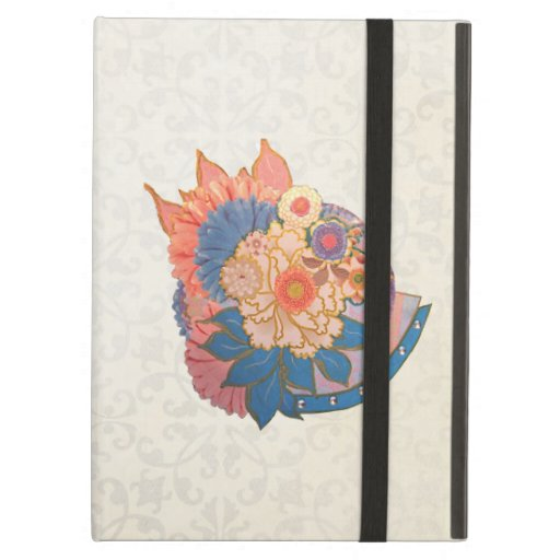 Asian Flower Collage art iPad Case