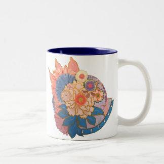 Asian Flower Collage art Mugs