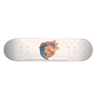 Asian Flower Collage art Skateboard
