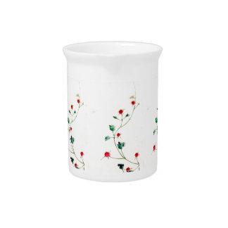 Asian Flower Drink Pitcher