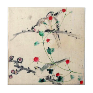 Asian Flower Tile