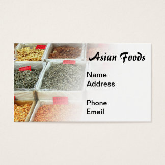 Asian Foods Market for Dried Shrimps and Fish Business Card