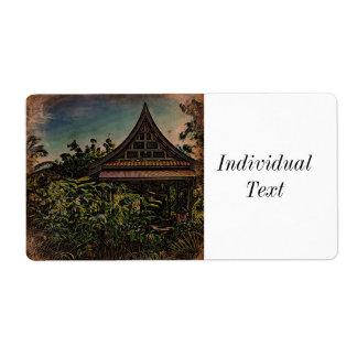 Asian Garden 2 Label