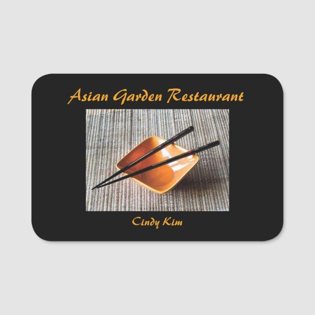 Asian Garden Restaurant Name Tag