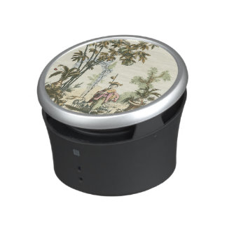 Asian Garden with Woman and Animals Bluetooth Speaker