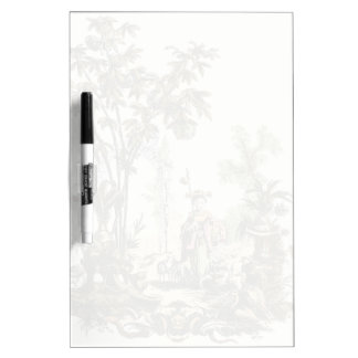 Asian Garden with Woman and Animals Dry-Erase Board