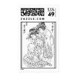 Asian Geisha Postage Stamp by ASM