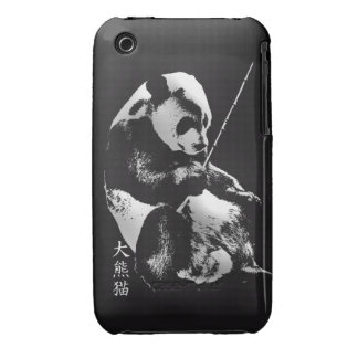 Asian Giant Panda Bear Cub playing with Bamboo Case-Mate iPhone 3 Case