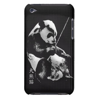 Asian Giant Panda Bear Cub playing with Bamboo Barely There iPod Case
