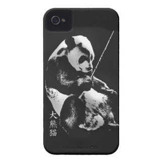 Asian Giant Panda Bear Cub playing with Bamboo iPhone 4 Case-Mate Case