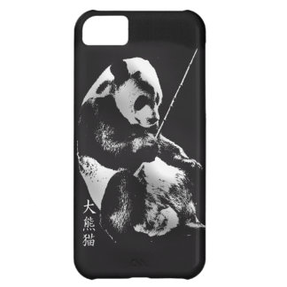 Asian Giant Panda Bear Cub playing with Bamboo Case For iPhone 5C