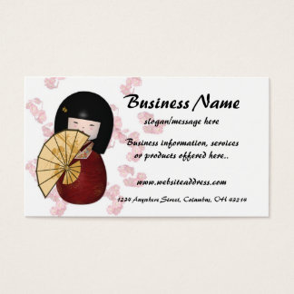 Asian Girl 2 w/Cherry Blossoms Business Cards