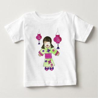 Asian Girl and Paper Lanterns Tee Shirt