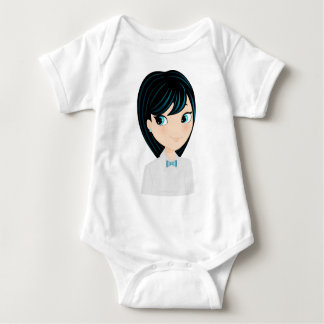 Asian girl baby bodysuit