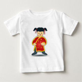 Asian Girl in Traditional Chinese Clothing Cartoon Shirt
