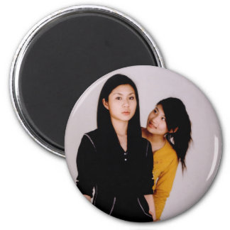 Asian Girl Movie Style 2 Inch Round Magnet