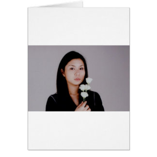 Asian Girl Movie Style Case Greeting Card