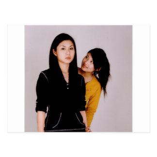 Asian Girl Movie Style Postcard