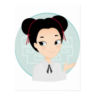 Image result for chinese girl cartoon long hair