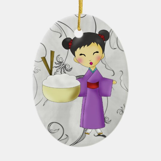 Asian Girl - SRF Ceramic Ornament