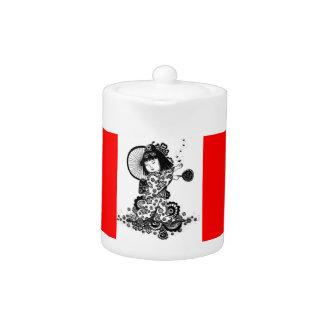 Asian Girl tea pot